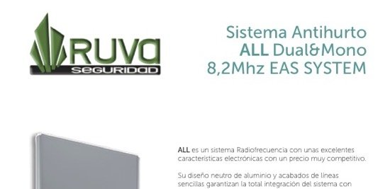 Sistema Antihurto RF modelo ALL